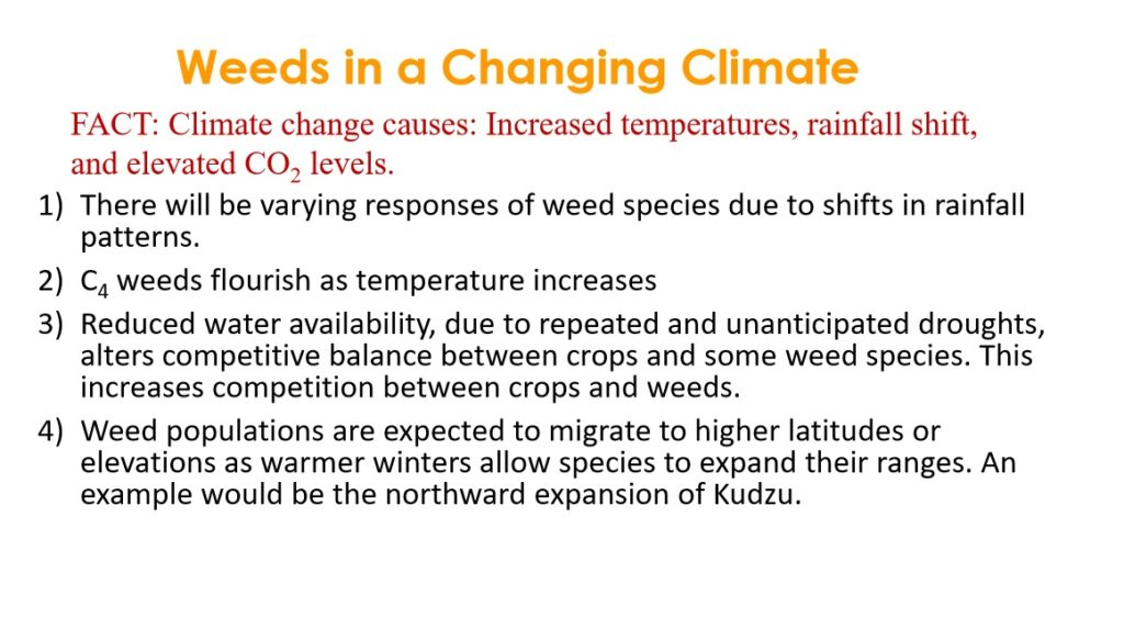 Weeds in a Changing Climate